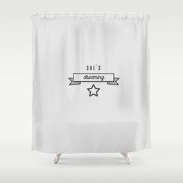She's dreaming Shower Curtain