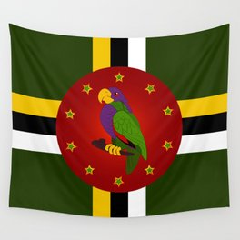 Dominica Flag Wall Tapestry