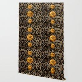 Animal Print Cheetah Triple Gold Wallpaper