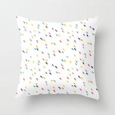 rainbow raindrops Throw Pillow