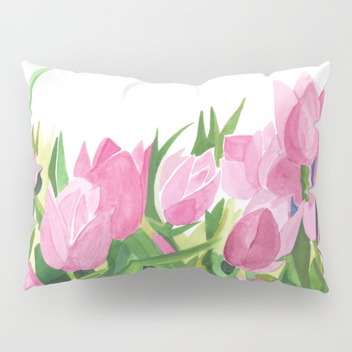Spring is Near - Pink Tulips Pillow Sham