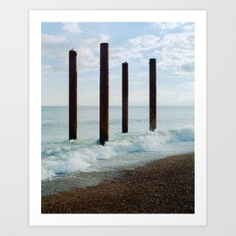 Brighton Pier Remnants 2 Art Print