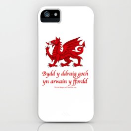 The Red Dragon Will Lead The Way iPhone Case