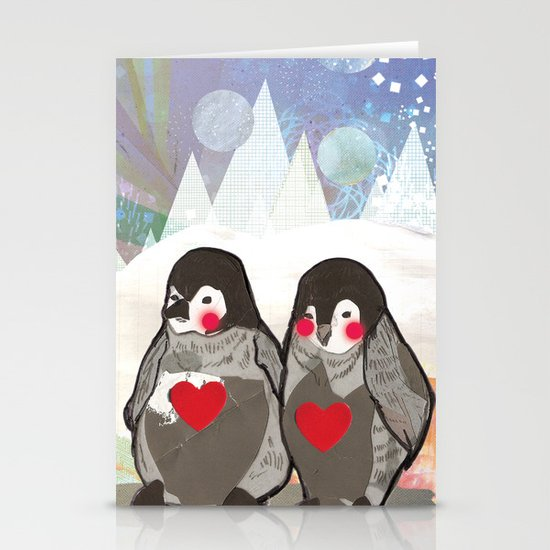 Baby Penguins Stationery Cards
