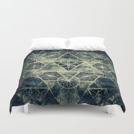 Sacred Geometry for your daily life -  Platonic Solids - IGNIS Duvet Cover