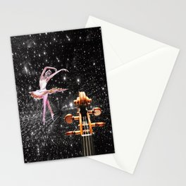 Violin and Ballet Dancer number 1 Stationery Cards
