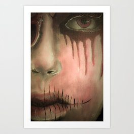 Dead Girl on the Subway Art Print