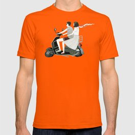 Couple On Scooter T-shirt