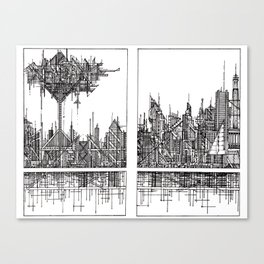 The City of our Tallest Fears Canvas Print