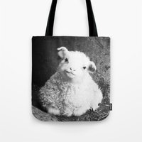 lamb Tote Bags featuring Lamb by Garpa