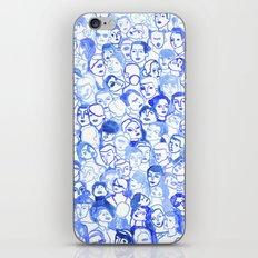 Blue velvet iPhone & iPod Skin