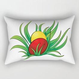 eggs in the grass Rectangular Pillow