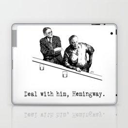 James Joyce x Ernest Hemingway - Drunken Shenanigans Painting Laptop & iPad Skin