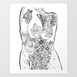 Beautiful Bodies I Art Print