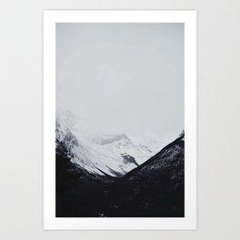 Snow in mountain peak | Wanderlust | El Calafate, Argentina Art Print