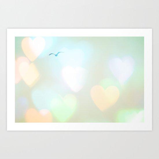 Sky Of Hearts Art Print
