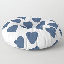 Hearts Navy Floor Pillow