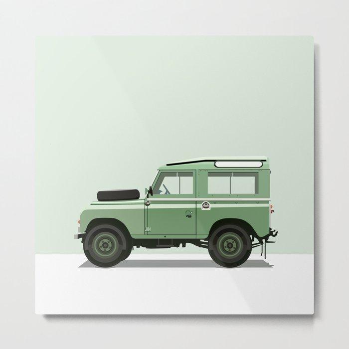 Car illustration - land rover Metal Print