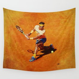 Rafael Nadal Sliced Backhand Wall Tapestry