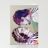 larry Stationery Cards featuring Geometric Larry by Peek At My Dreams