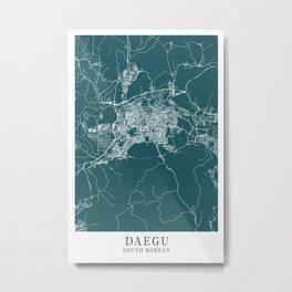 Daegu - South Korean Mind City Map 1E555C Metal Print