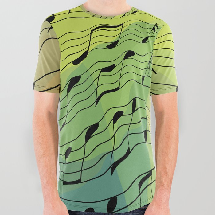 b120f1c68 Music notes II All Over Graphic Tee by gavila | Society6