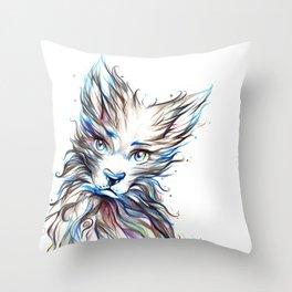 Colourfull Wolf Throw Pillow