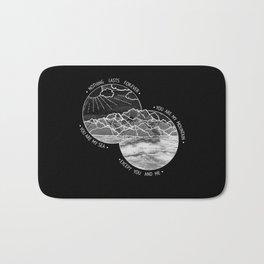 mountains-biffy clyro (black version) Bath Mat