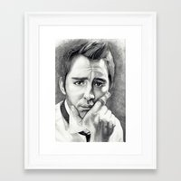 lee pace Framed Art Prints featuring Lee Pace by Ashley Marie Morrison