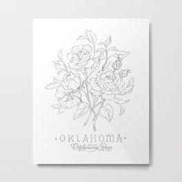 Oklahoma Sketch Metal Print