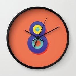 Alphabet Drop Caps Series- 8 Wall Clock