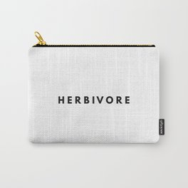 HERBIVORE vegan vegeterian graphic tumblr vegan vibes funny Carry-All Pouch