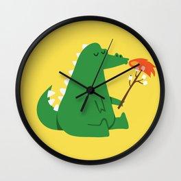 Dragon and Marshmallow Wall Clock