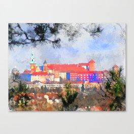 Cracow - Wawel castle Canvas Print