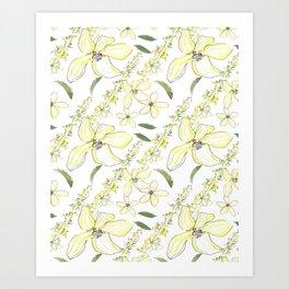 Floral Pattern Agrimony Art Print