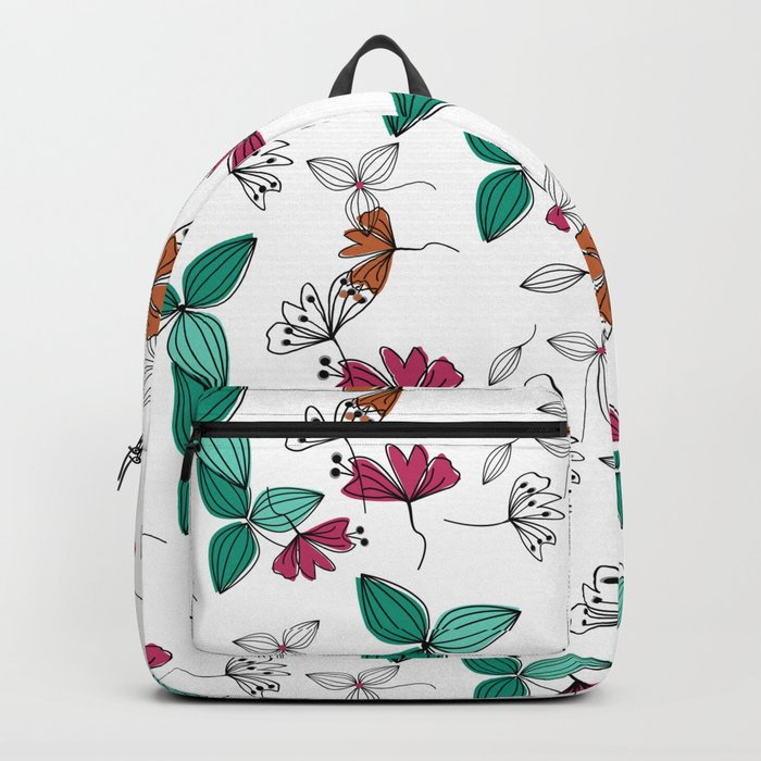 Retro .Floral pattern Rustic Backpack