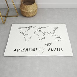 Adventure Map on White Rug