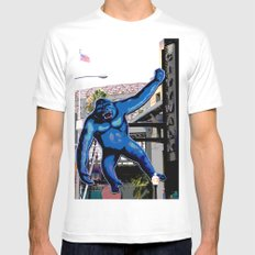 King Kong White MEDIUM Mens Fitted Tee