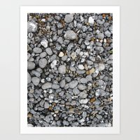 pebbles on the beach Art Print
