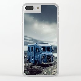 Little cars, Big Planet (Snow) Clear iPhone Case