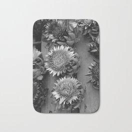 Artichokes, black-and-white photography Bath Mat