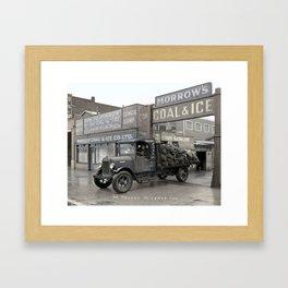 Morrow's Coal and Ice Company at 1025 Main Street, Vancouver - 1931 Framed Art Print