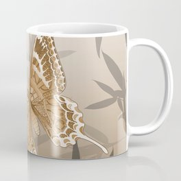 Beautiful Copper Butterfly Design Coffee Mug