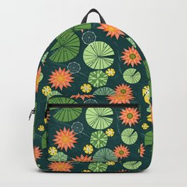 Lily pad pond Backpack