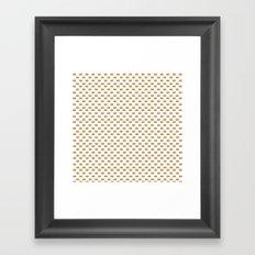 Cheeseburger Pattern Framed Art Print