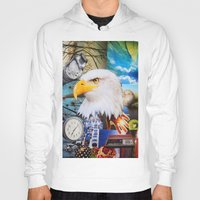 eagle Hoodies featuring Eagle by John Turck