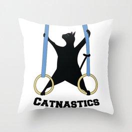 Catnastics Rings Throw Pillow