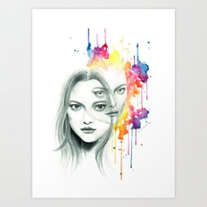 The other side Art Print