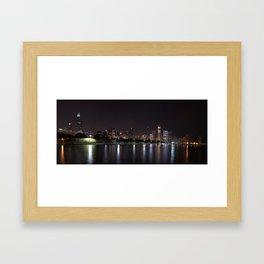 Chicago night skyline, Usa. Framed Art Print