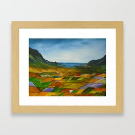 The Fields of Dingle Framed Art Print